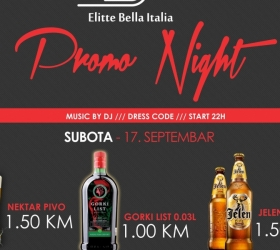 Elitte Bella Italia: Promo night