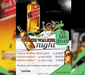 Elli bar - Ovog petka,15.01.2016. - Johnie Walker party uz promotivne cijene